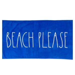 Rae Dunn Beach Please Towel Blue